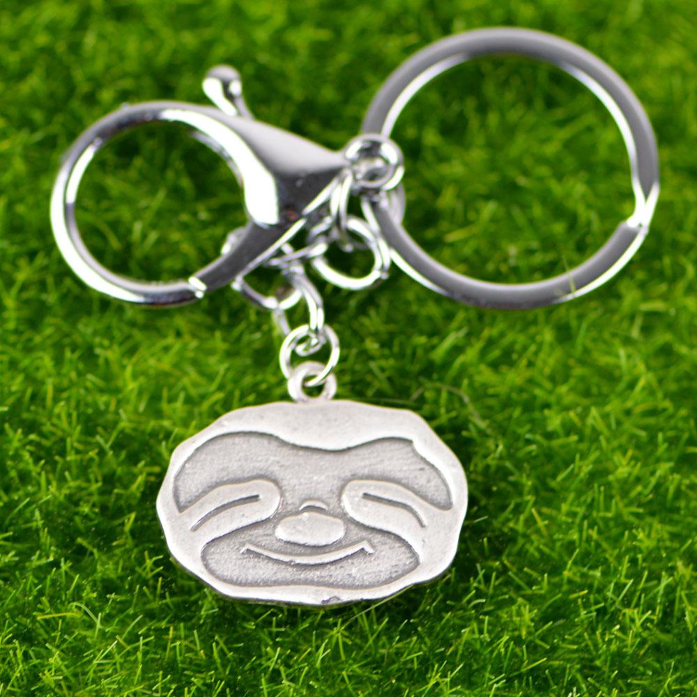 """""""Happy"""" - Sloth Keychain 3"""