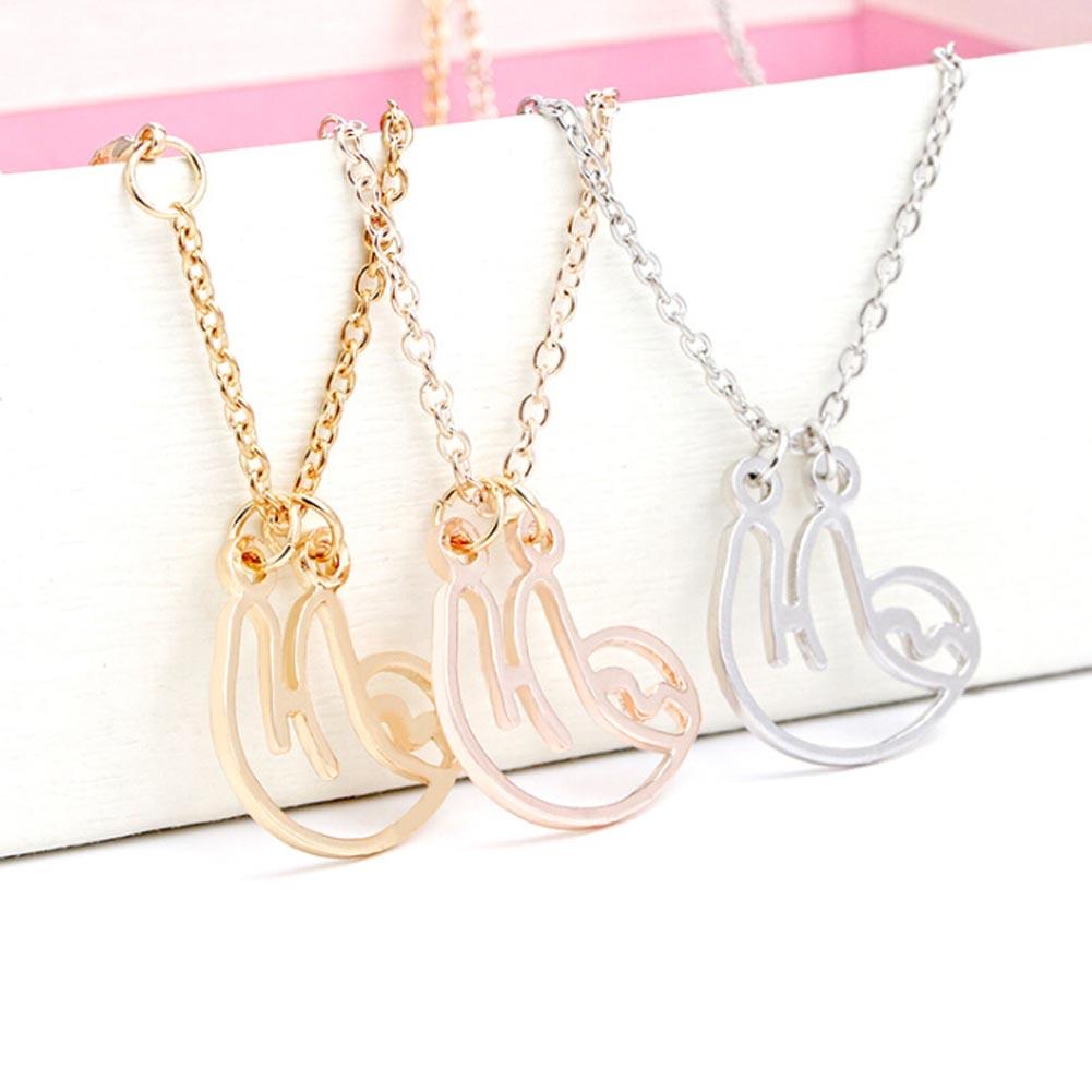 """""""CurvySloth"""" - Sloth Necklace 1"""