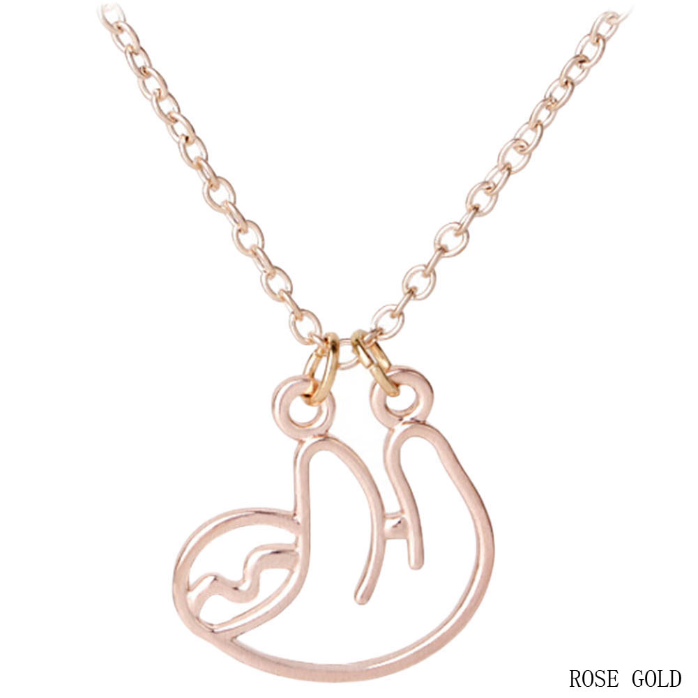 """""""CurvySloth"""" - Sloth Necklace 4"""