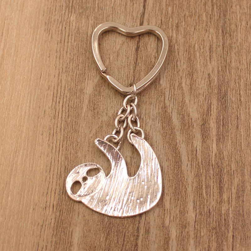 """Heart"" - Sloth Keychain 1"