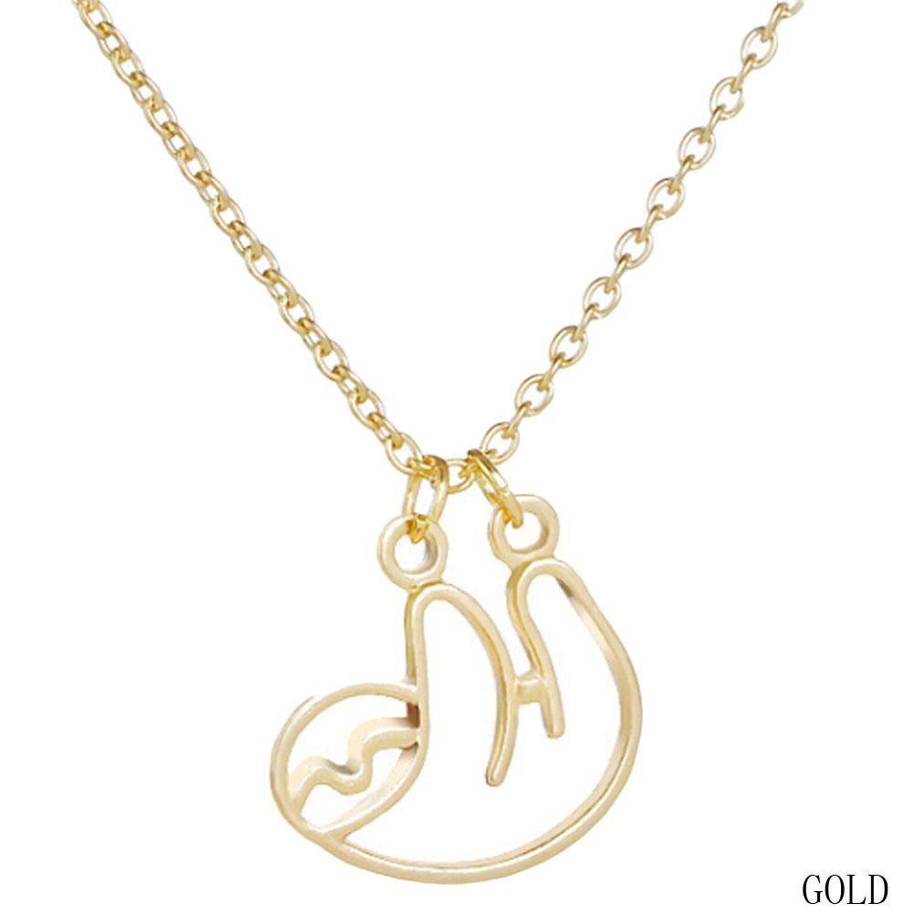 """""""CurvySloth"""" - Sloth Necklace 3"""