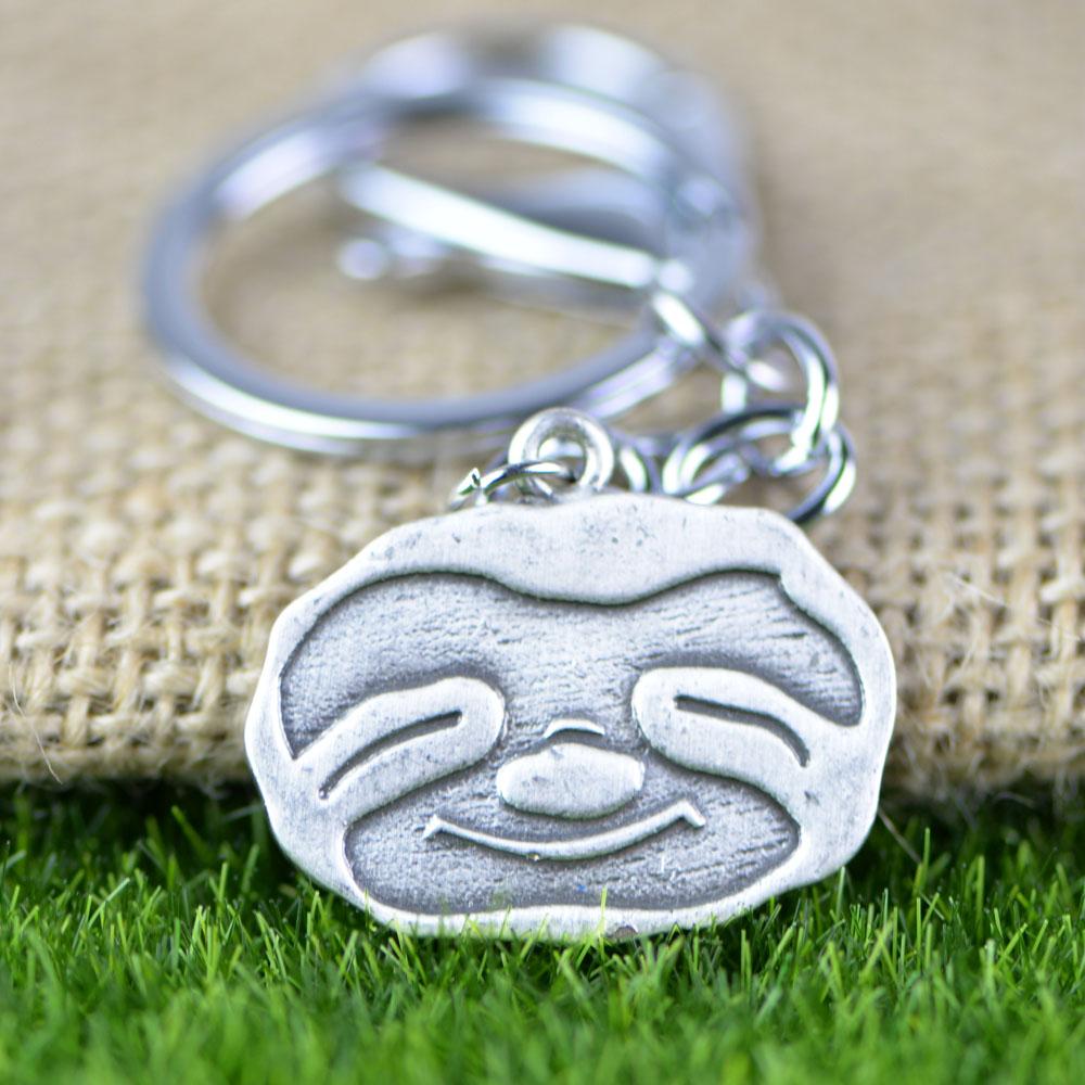 """""""Happy"""" - Sloth Keychain 4"""